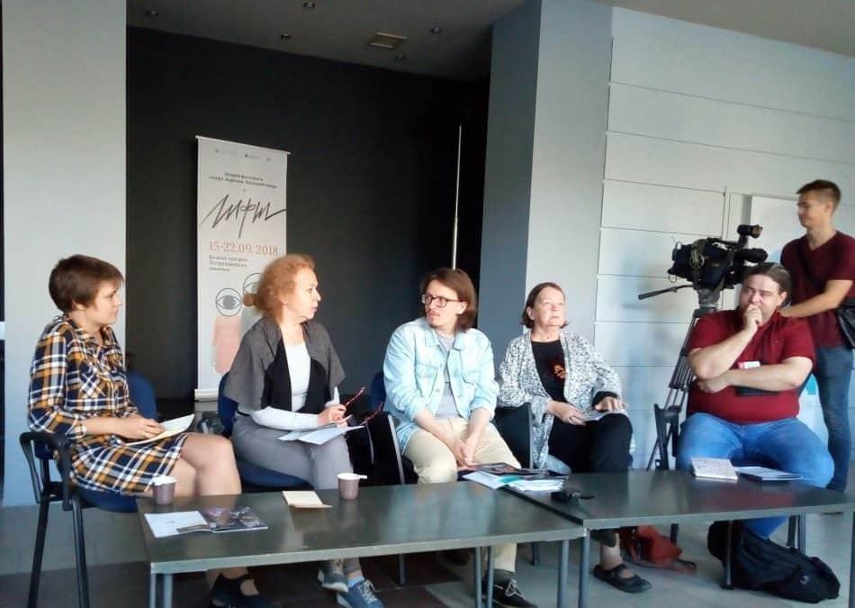 Члены жюри (слева направо): Анастасия Иванова, Марина Тимашева, Евгений Авраменко, Надежда Таршис и Алексей Пасуев