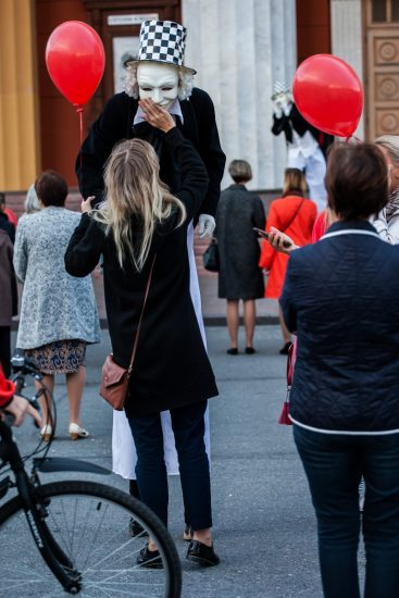 Открытие фестиваля на улице