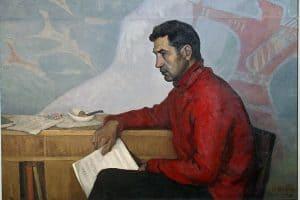 Среди иллюстраций к книге есть и этот известный портрет Эдуарда Патлаенко кисти Фолке Ниеминена из коллекции Музея изобразительных искусств Карелии, 1964 год