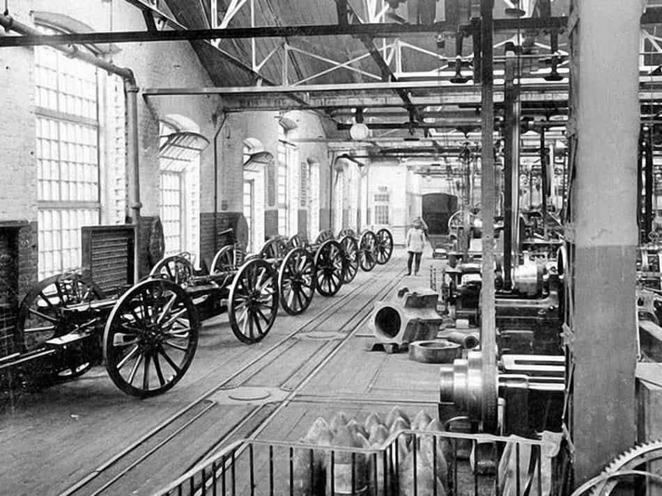 Цеха Путиловского завода, на котором работали многие заонежане