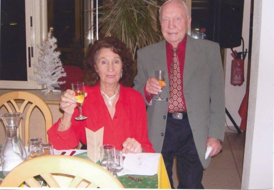 Жельбер с женой Моникой на курорте Ле-Лаванду в 2012 году