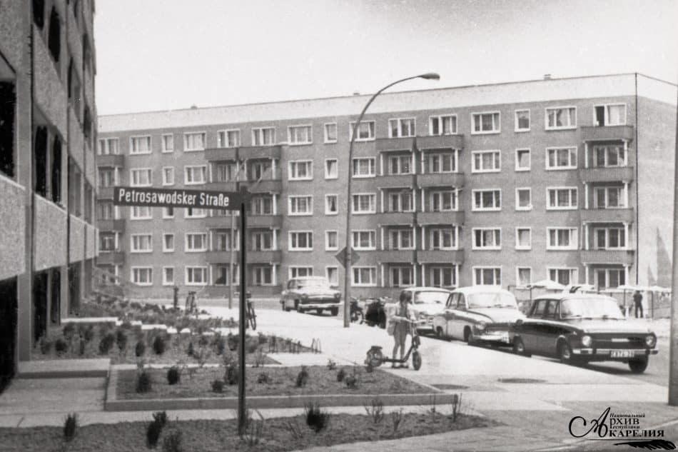 Общий вид ул. Петрозаводской в Нойбранденбурге. г. Нойбранденбург. 1974 год