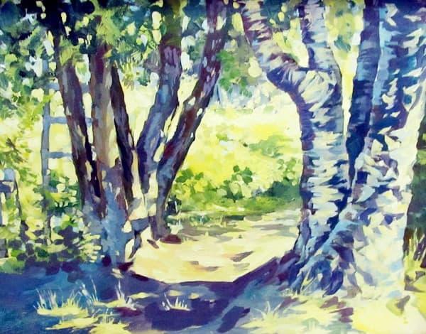 О. Юшкова. «Пейзаж с солнцем»
