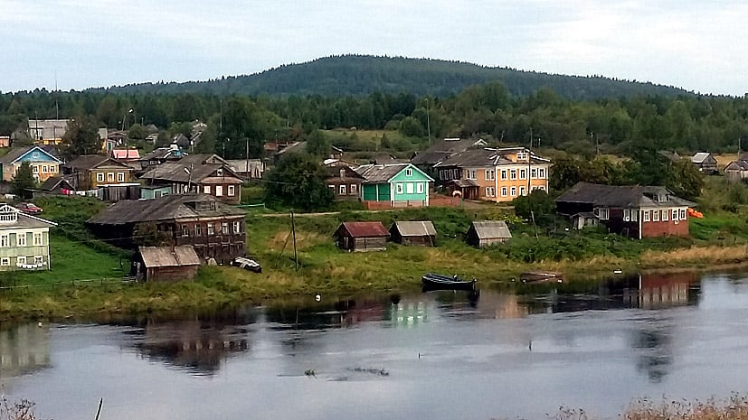 Село Нюхча, откуда начиналась Осударева дорога. Фото 2016 год