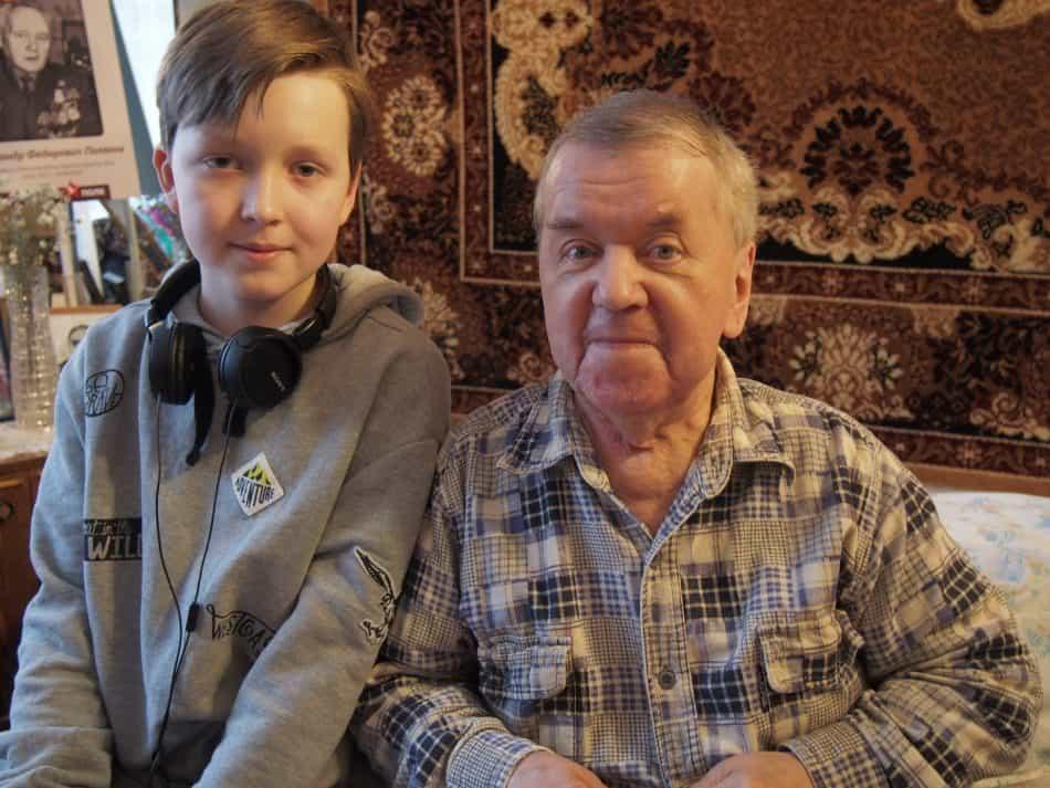 Арсений Васильевич Анисимов и Арсений Голубев. Фото: Мария Голубева