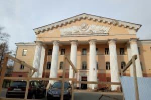 Петрозаводский Дом офицеров начали ремонтировать