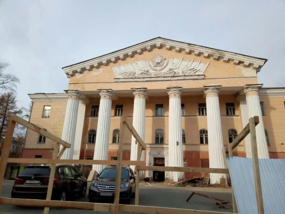 Дом офицеров в Петрозаводске. 18 октября 2018 года. Фото Натальи Мешковой