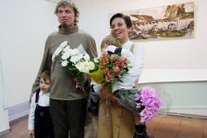Алексей Лебедев и Надежда Белая с детьми