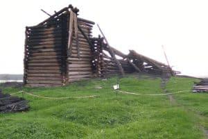 Успенская церковь после пожара
