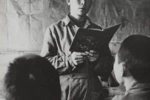 Учитель во время урока. 1937 год. Фото: russiainphoto.ru