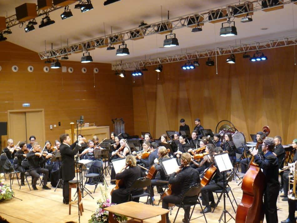 Камерный оркестр Петрозаводской консерватории Nord-West Studium под управлением дирижера Михаила Леонтьева. Фото Дмитрия Цвибеля