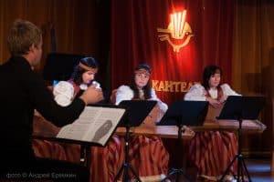 Руководитель оркестра Павел Шаматура, Ирина Шишканова, Ирина Волокославская, Александра Сахарова