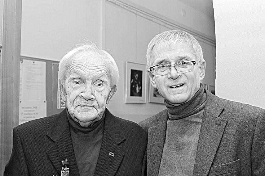 Снимок на память с Мастером в день его 90-летия