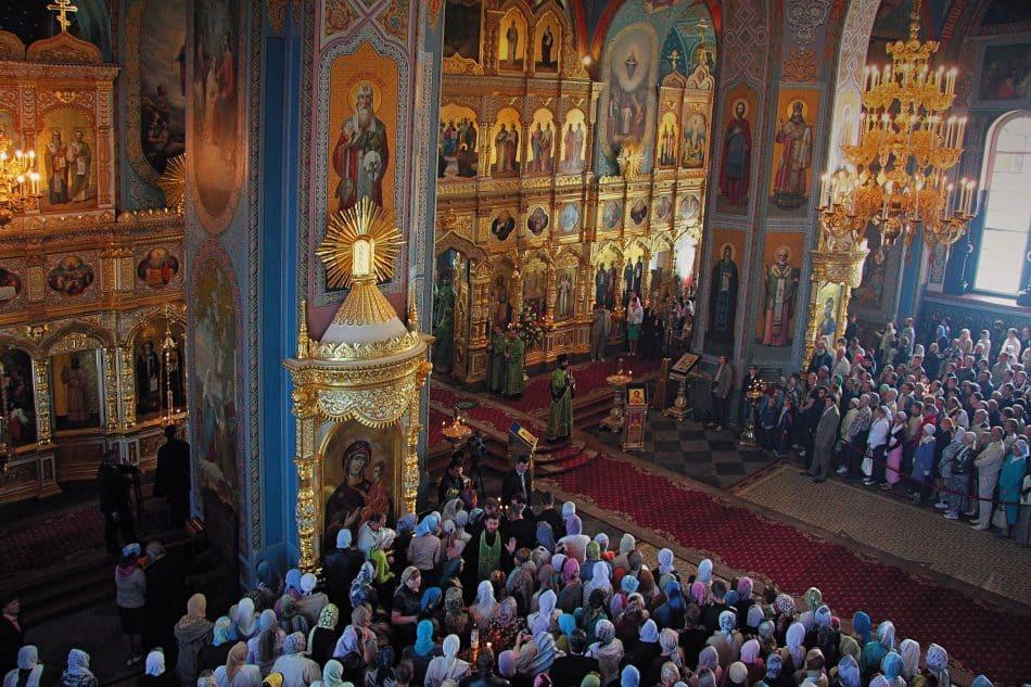 Служба на Валааме. Фото Владимира Ларионова