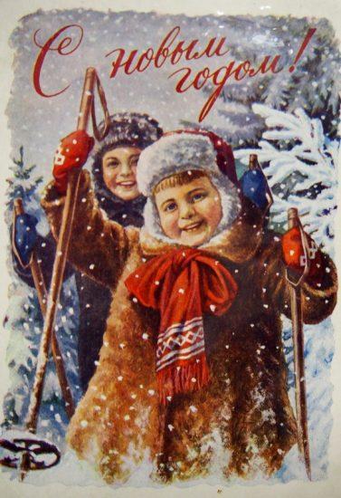 На выставке новогодних открыток из коллекции Михаила Курганова. Фото Ирины Ларионовой