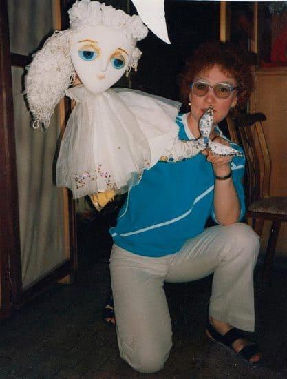 """После спектакля """"Русалочка"""". Премьера состоялась 24 декабря 1988 года"""