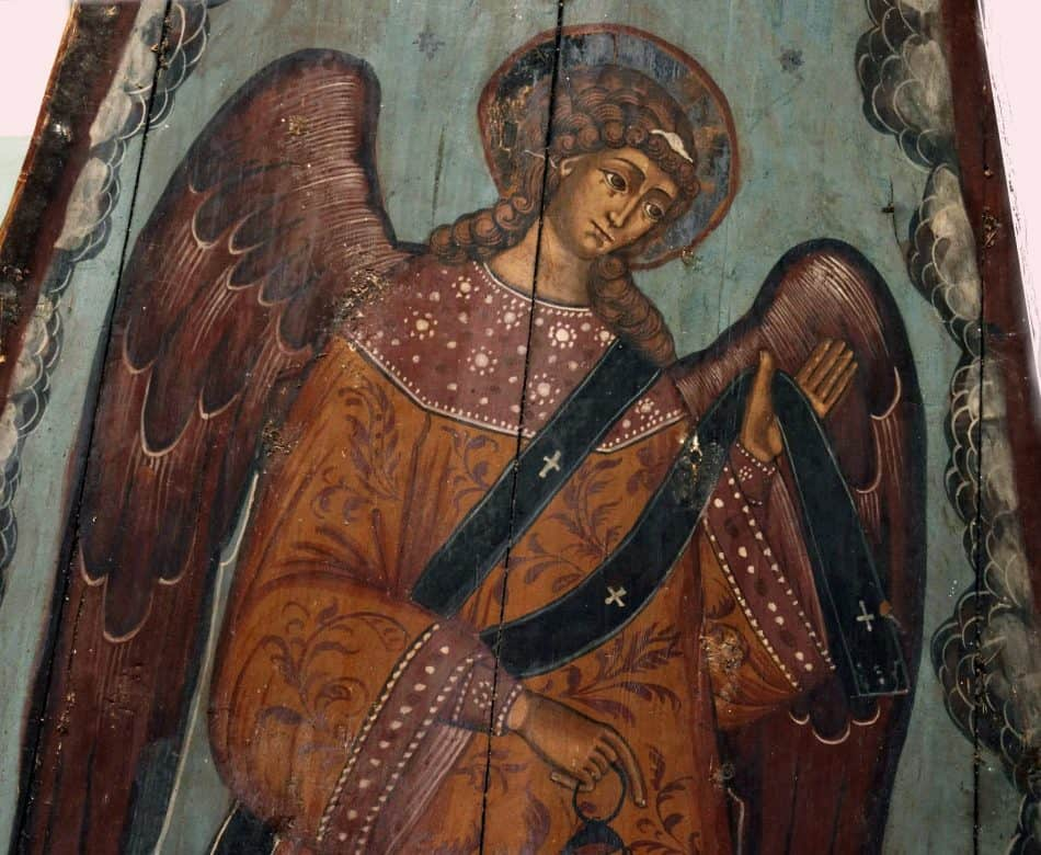 """Архангел с орарем. Фрагмент иконы """"неба"""""""