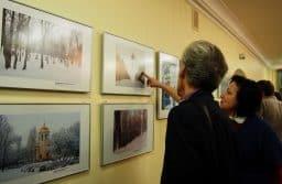На выставке «Петрозаводск: зимний ракурс». Фото Ирины Ларионовой