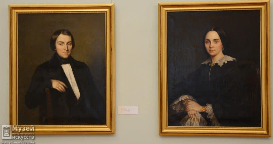 Впервые экспонируются парные портреты супружеской четы художника Г.И. Яковлева