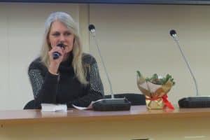 """Яна Жемойтелите на презентации романа """"Хороша была Танюша"""" в Национальной библиотеке Карелии"""