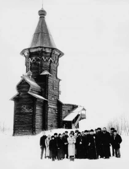 Январь 1995 года. Участники конференции по Успенской церкви. Фото Василия Шевцова