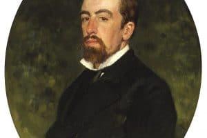 В.Д. Поленов. Портрет работы И. Репина (1877)
