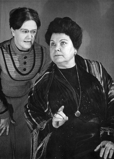 "1966 год. ""Васса Железнова"". Анна Оношенкова – Е. Севандер, Васса – Е. Томберг"