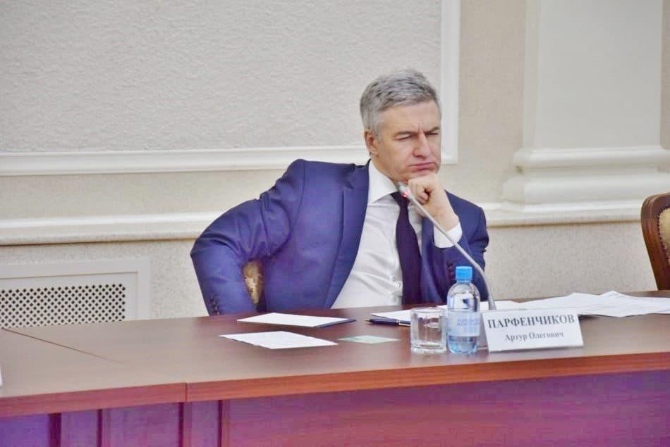 Артур Парфенчиков на заседании Правительства Карелии 18 января 2019 года. Фото Марии Голубевой