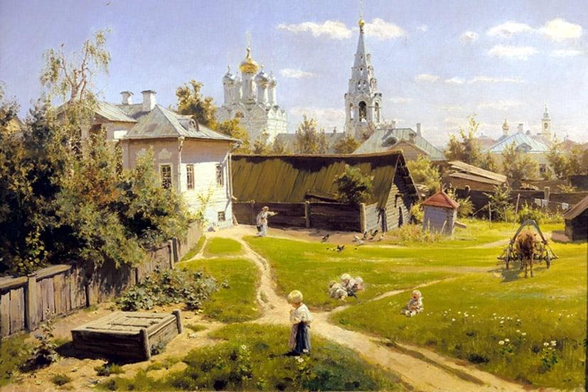 Самая известная картина В.Д. Поленова «Московский дворик»