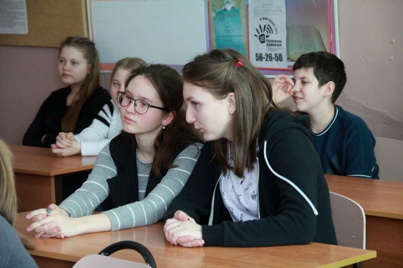 Встреча со школьниками в Шелтозерской школе