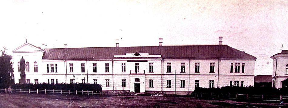 Бывшая Олонецкая мужская гимназия, ныне Музей изобразительных искусств Карелии. Фото Национального архива Республики Карелия