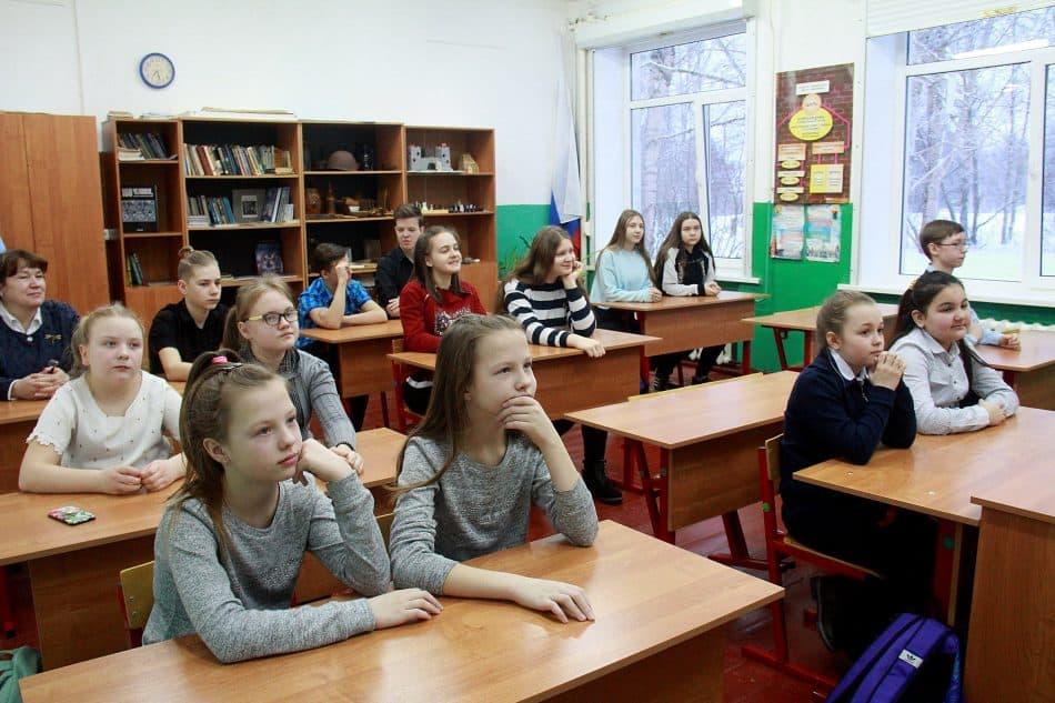 Встреча со школьниками в Шокше