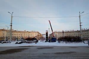 Снос «Биг Бена» в Петрозаводске. 28 января 2019 года