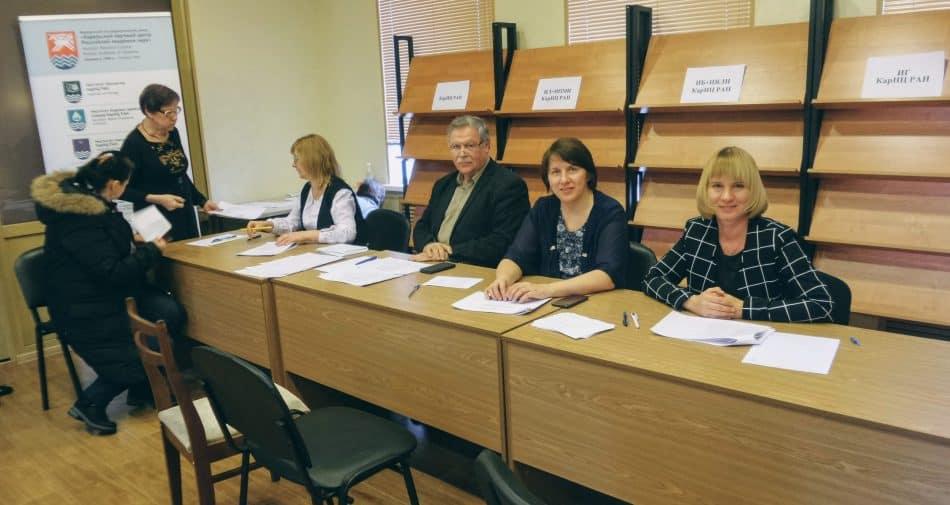 Избирательная комиссия по выборам председателя КарНЦ РАН. Фото: vk.com/karrc