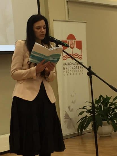 Стихи Валентины Галышевой читает Анна Калашник. Фото: vk.com/nationaltheatre