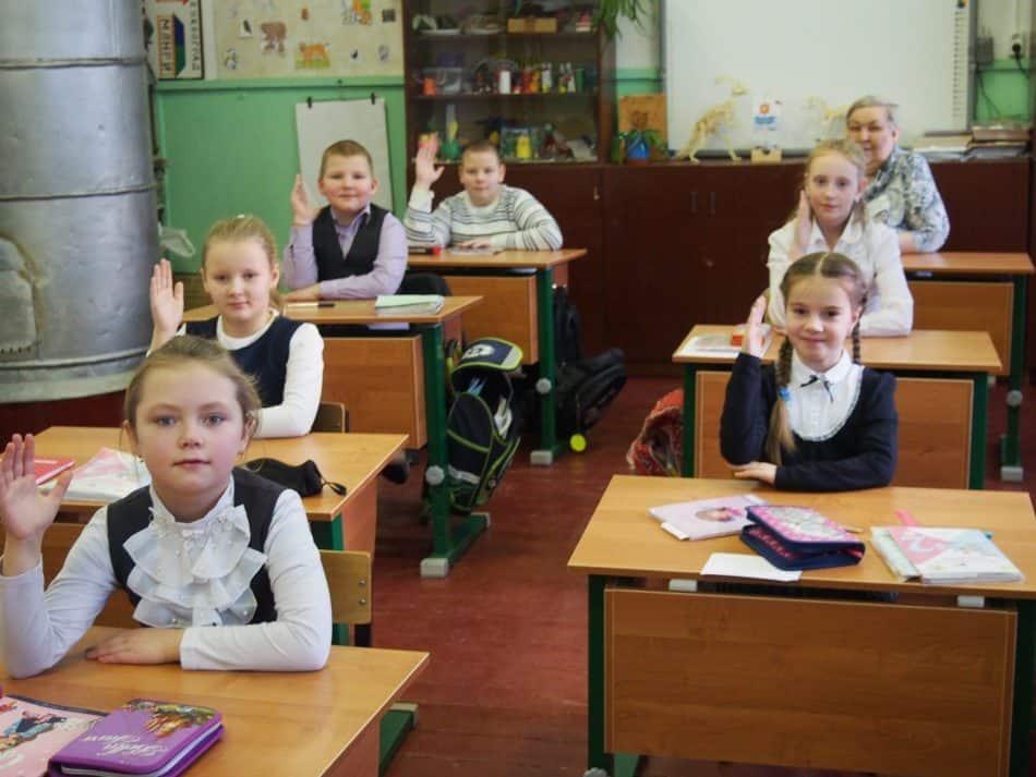 В Кепской основной школе Калевальского района. 2019 год. Фото Марии Голубевой