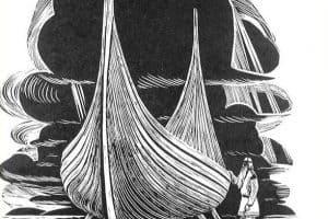 """Мюд Мечев. """"Вяйнемёйнен строит лодку"""". Из собрания Национального музея Карелии"""