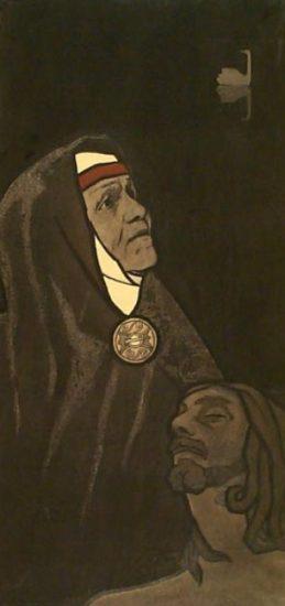 """Георгий Стронк. """"Мать Лемминкяйнена"""". Из собрания Национального музея Карелии"""
