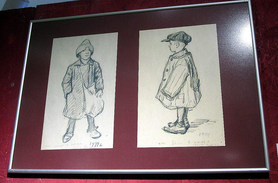 В годы войны Константин Буторов работал художником «Окон КарелФинТАга». В июне 1944 года он нарисовал этих двух мальчишек, освобожденных из концлагеря