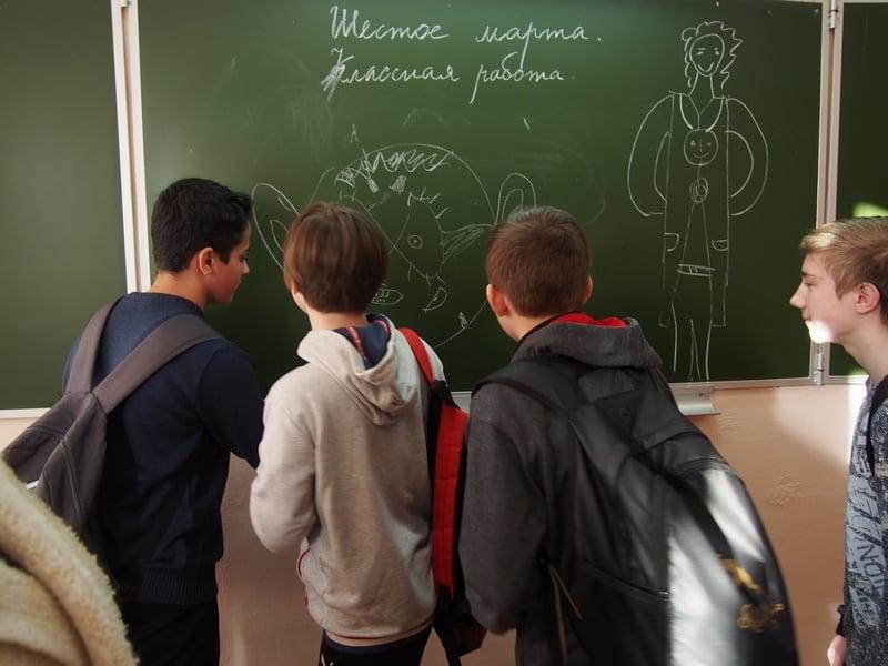 Свои идеи дети записывали на доске