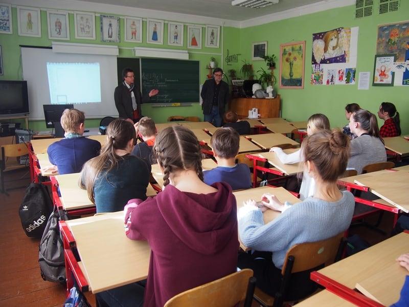 Встреча с семиклассниками под руководством Любови Николаевны Кирюшиной в школе №1