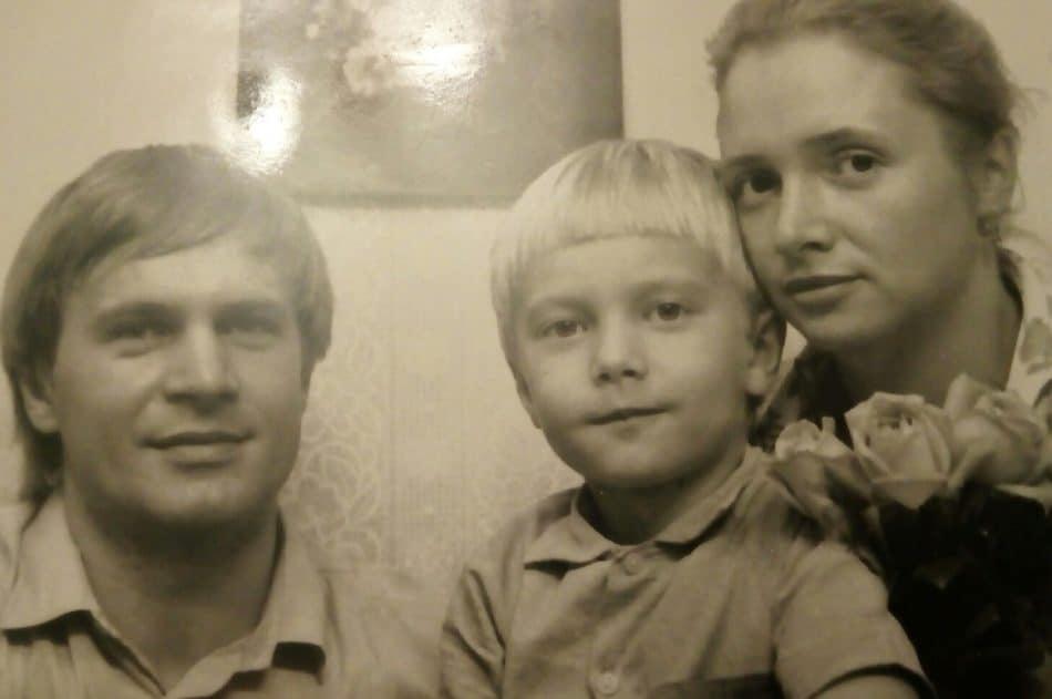 С родителями. Фото Василия Петухова