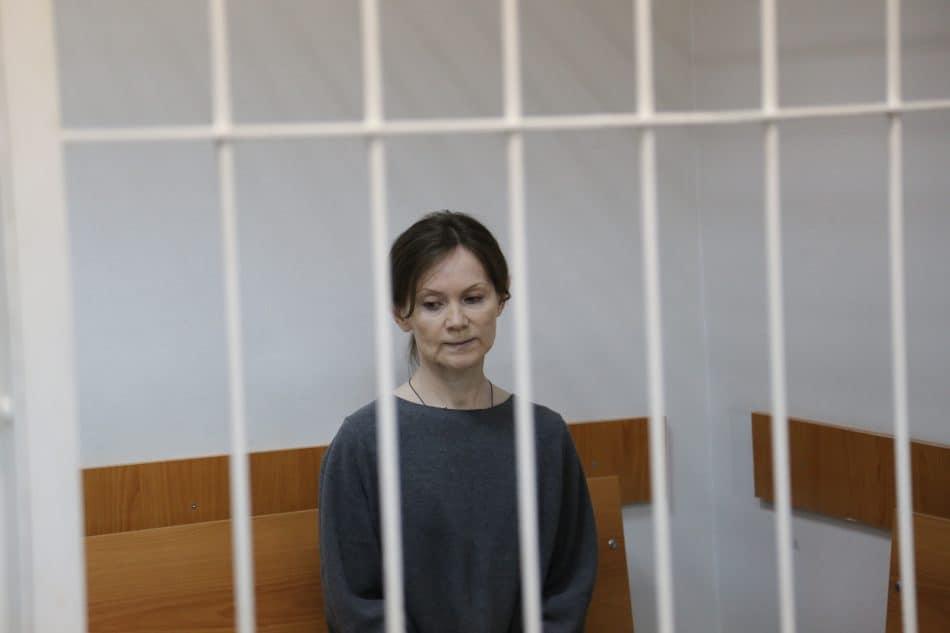 Елена Решетова в Петрозаводском городском суде 18 марта 2019 года. Фото Владимира Ларионова