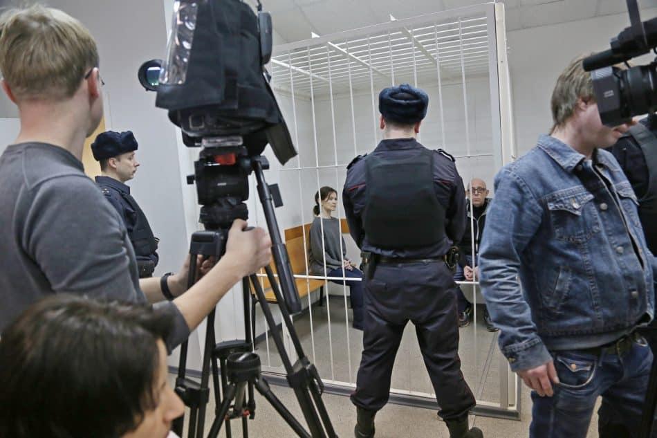 К процессу приковано внимание всех СМИ страны. В  Петрозаводском городском суде 18 марта 2019 года. Фото Владимира Ларионова