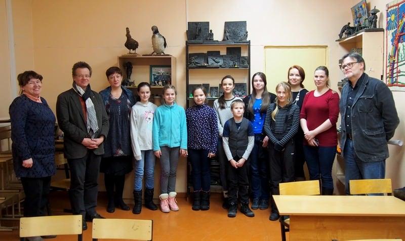 С учениками детской школы искусств им. А.Ю. Бесолова