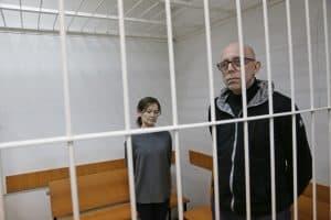 Елена Решетова и Вадим Виноградов  слушают приговор. Фото Владимира Ларионова