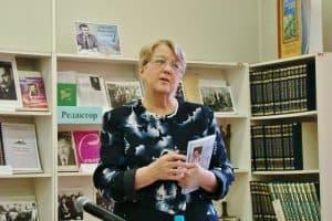 Валентина Росликова на презентации. Фото Юлии Свинцовой