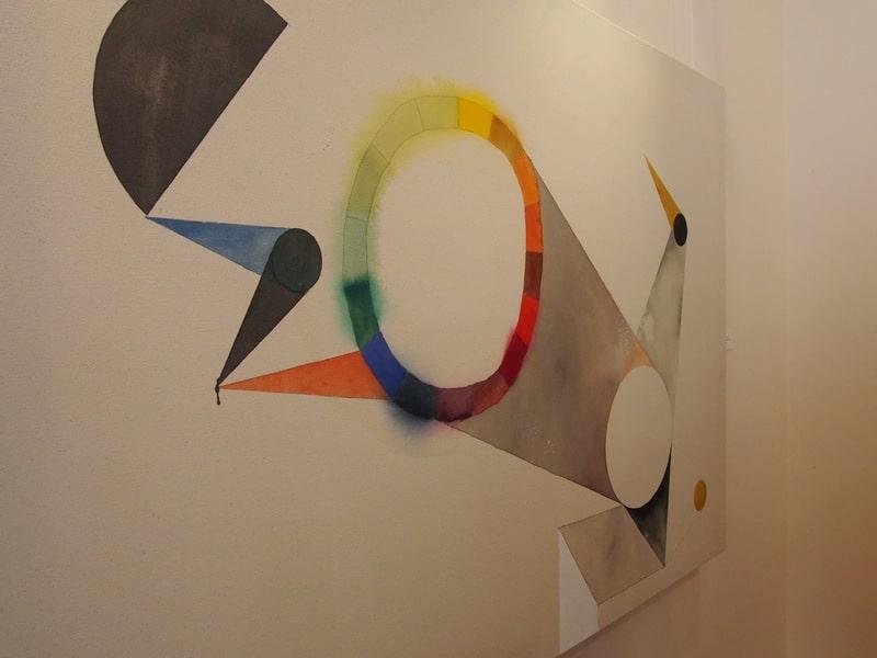 Туомас Коркало. Композиция с цветным кругом