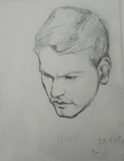 Валвер (Валерий Верхоглядов). 28.01.1967. Рисунок Вадима Кузнецова
