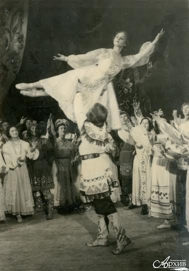 Сцена из балета «Сампо» Музыкально-драматического театра Карельской АССР. Петрозаводск, 1959 год